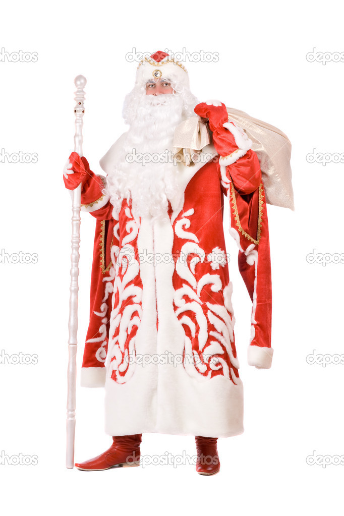 Ded Moroz (Father Frost) with a bag