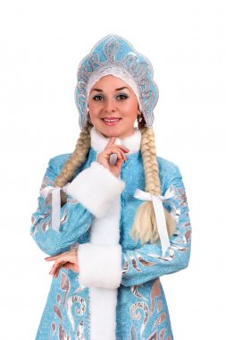 Portrait of a smiling Snow Maiden