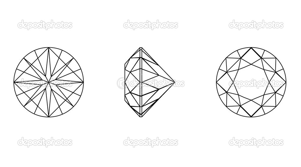 Round shapes of a gemstone. Wireframe — Stock Vector © Rozaliya #8128464