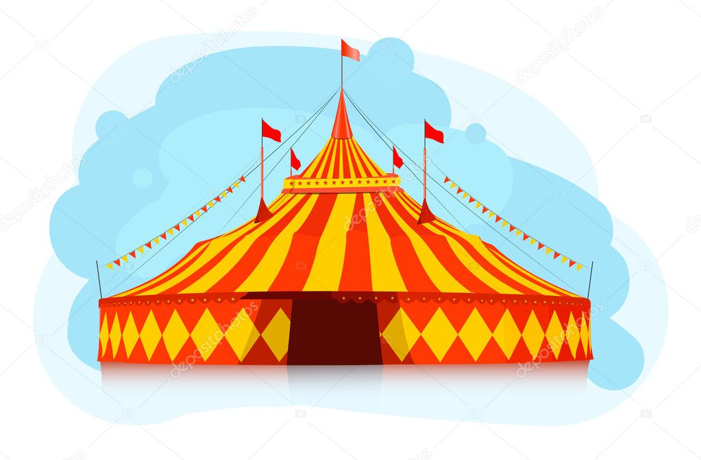 Big top circus tent u2014 Stock Vector  sc 1 st  Depositphotos & Big top circus tent u2014 Stock Vector © Bienchen #8760427