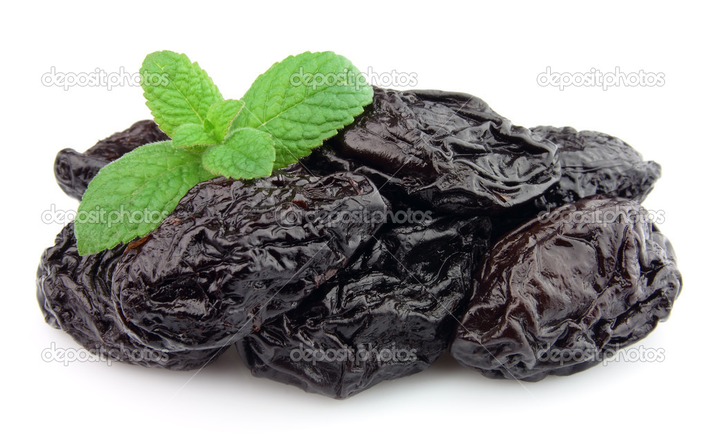 Prunes with mint