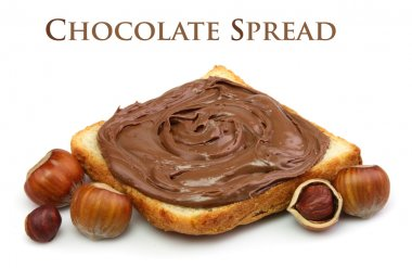 Chocolate spread and filbert nuts