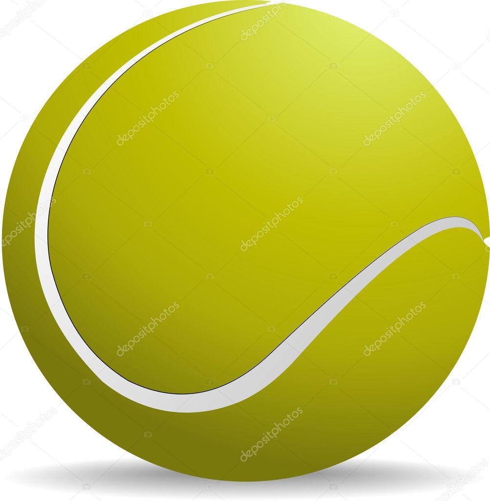 a4be7061c95eb Balle de tennis de jaune-vert sur fond blanc d'isolé. illustration  vectorielle — Vecteur par leonido