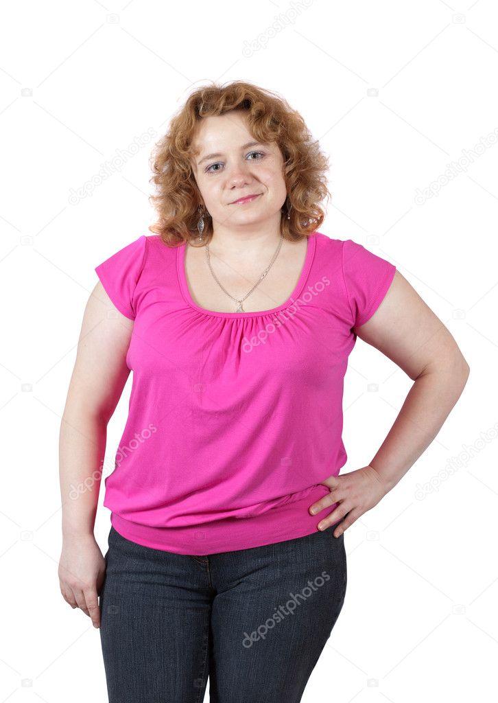 Dicke hässliche Frau — Stockfoto © Jim_Filim #8142483
