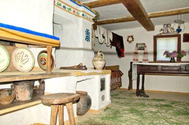 Interior of old hut