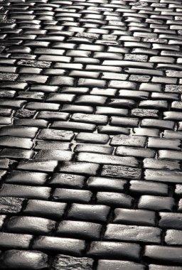 Stone blocks pavement surface