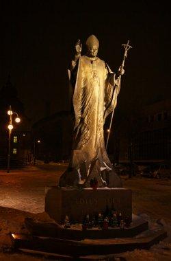 Statue of Pope John Paul II in Katowice, Poland