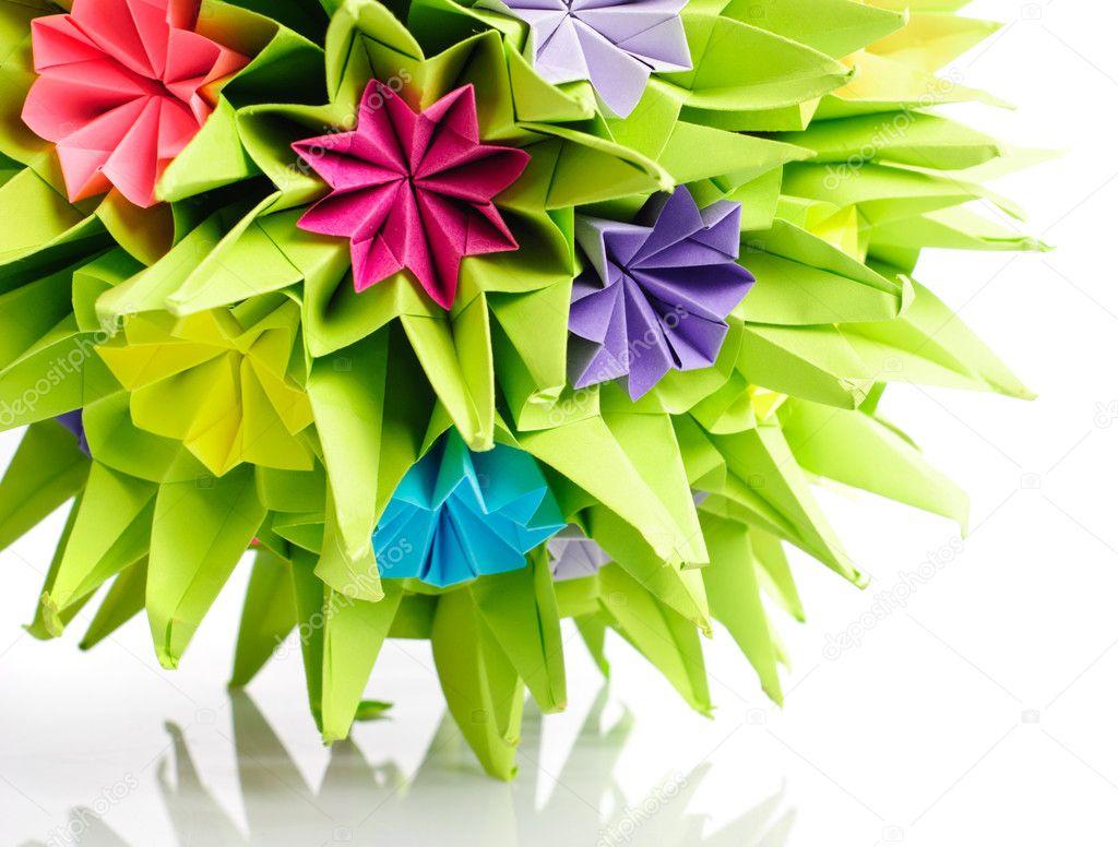 Origami Kusudama Flower Stock Photo Oksixx 8589973