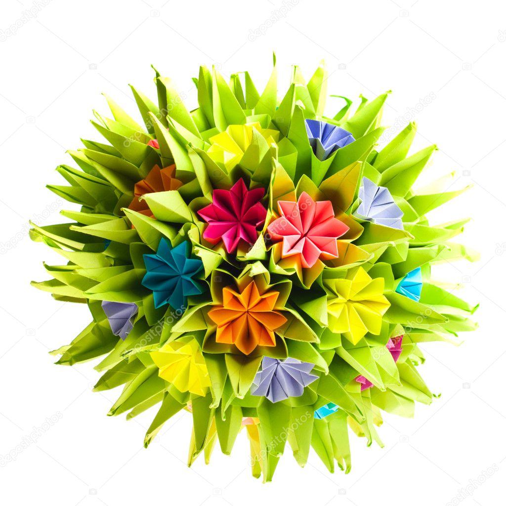 Origami Kusudama Flower Stock Photo Oksixx 8589981