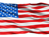 USA vlajka mávání ve větru.
