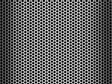 Pierced Metal Grid Background