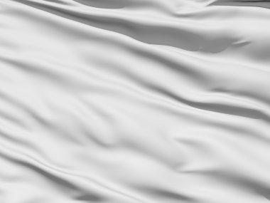 Rippled white fabric background