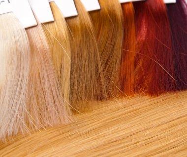 Dyed locks of hair