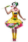 Fotografie hrdý klaun zobrazování květ