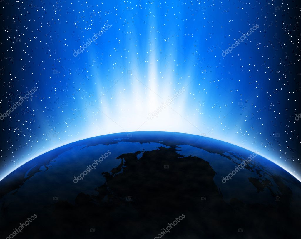 Earth and rays