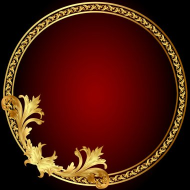 Frame with gold(en) pattern on circle