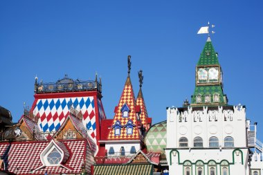 Beautiful kremlin in Izmailovo, Moscow, Russia