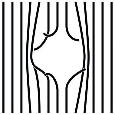 Bars Vector illustration.