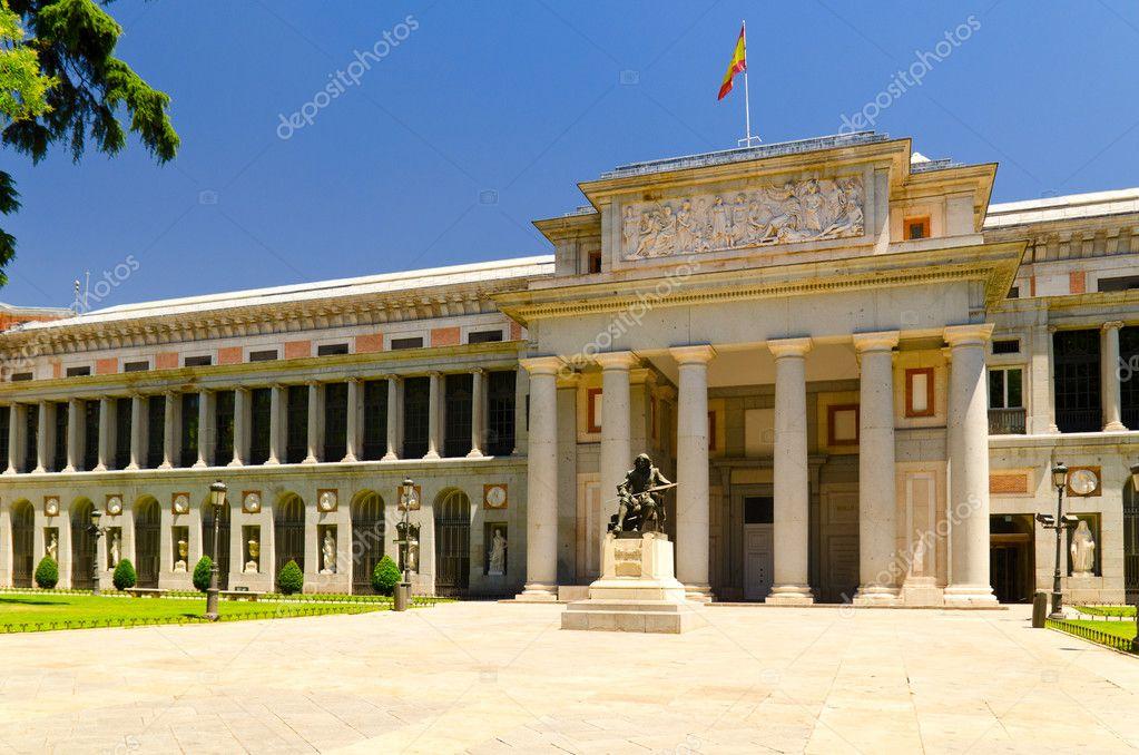 Velasquez monument near Prado museum at sunny day at Madrid, Spain