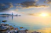 Fotografie Krajina a maják na pobřeží