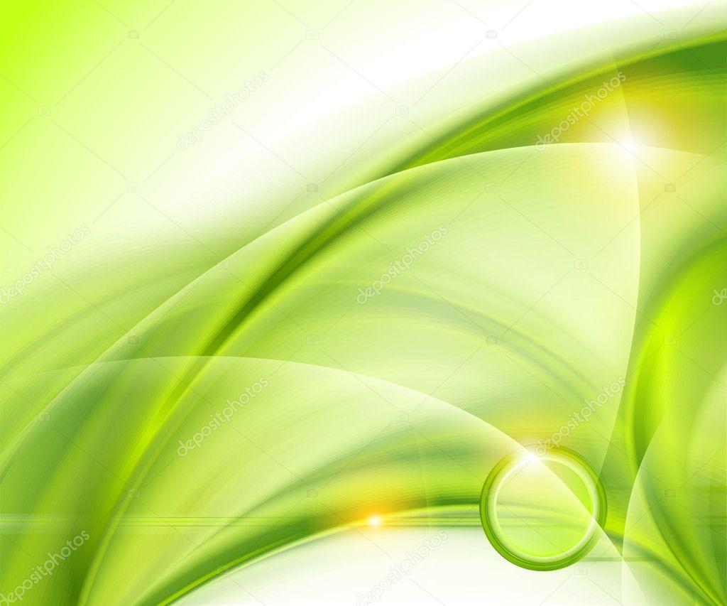 Зеленый абстрактный фон