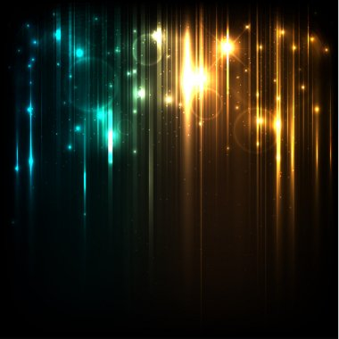 Vector background with bright magic lights and stars stock vector