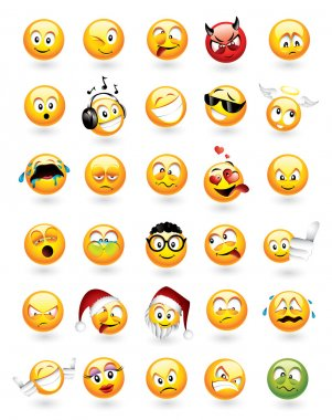 Set of 30 emoticons