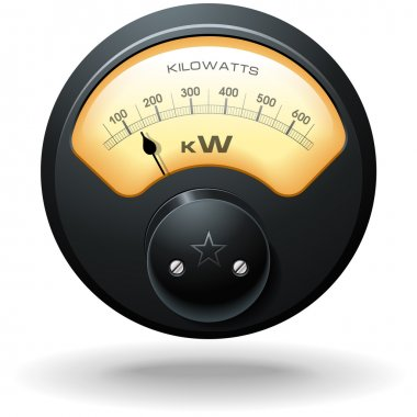 Analog Electrical Meter, realistic detailed vector stock vector