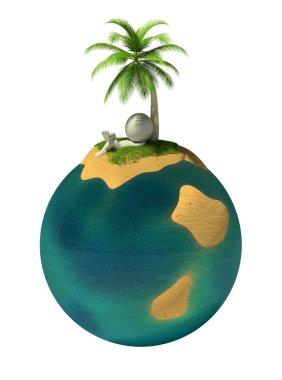 3d small - desert island