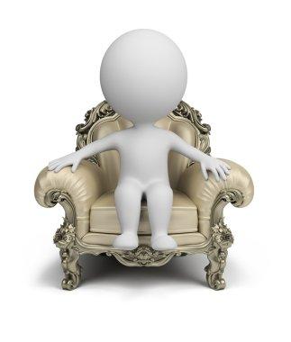 3d small - luxurious armchair