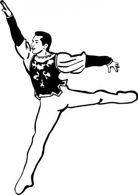 Sketch of dancer on wing dance