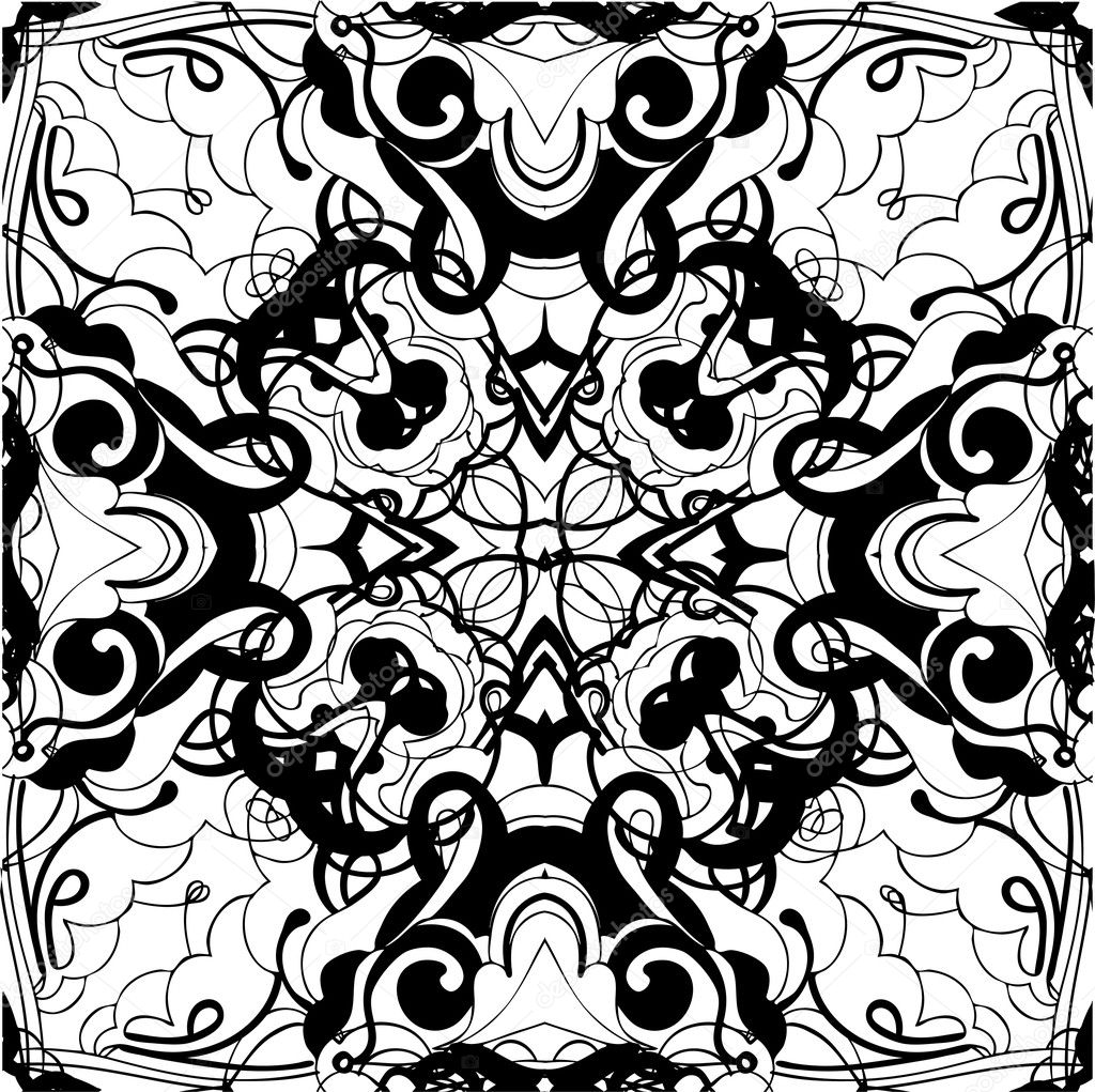 Abstract graphic design in black and white stock vector artex67 8857571 - White black design ...