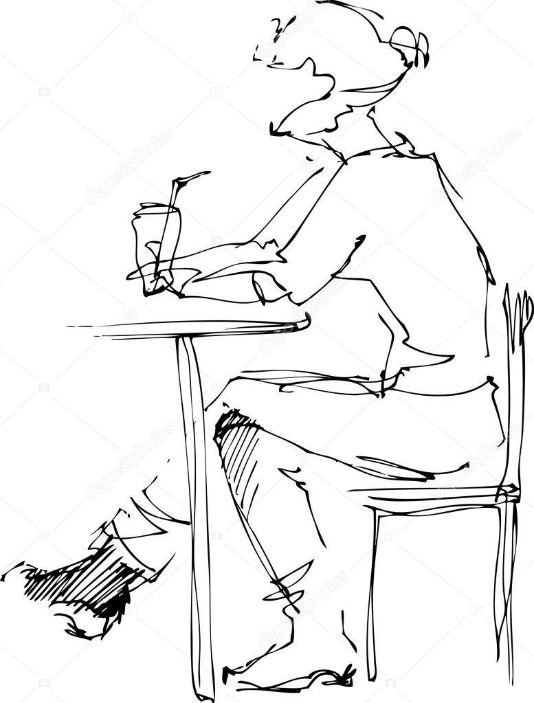 Под столом девушки