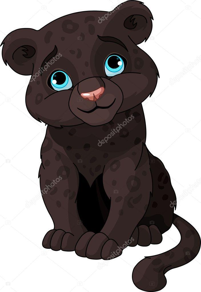 Black panther cub