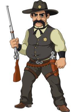 Wild west. Cartoon sheriff
