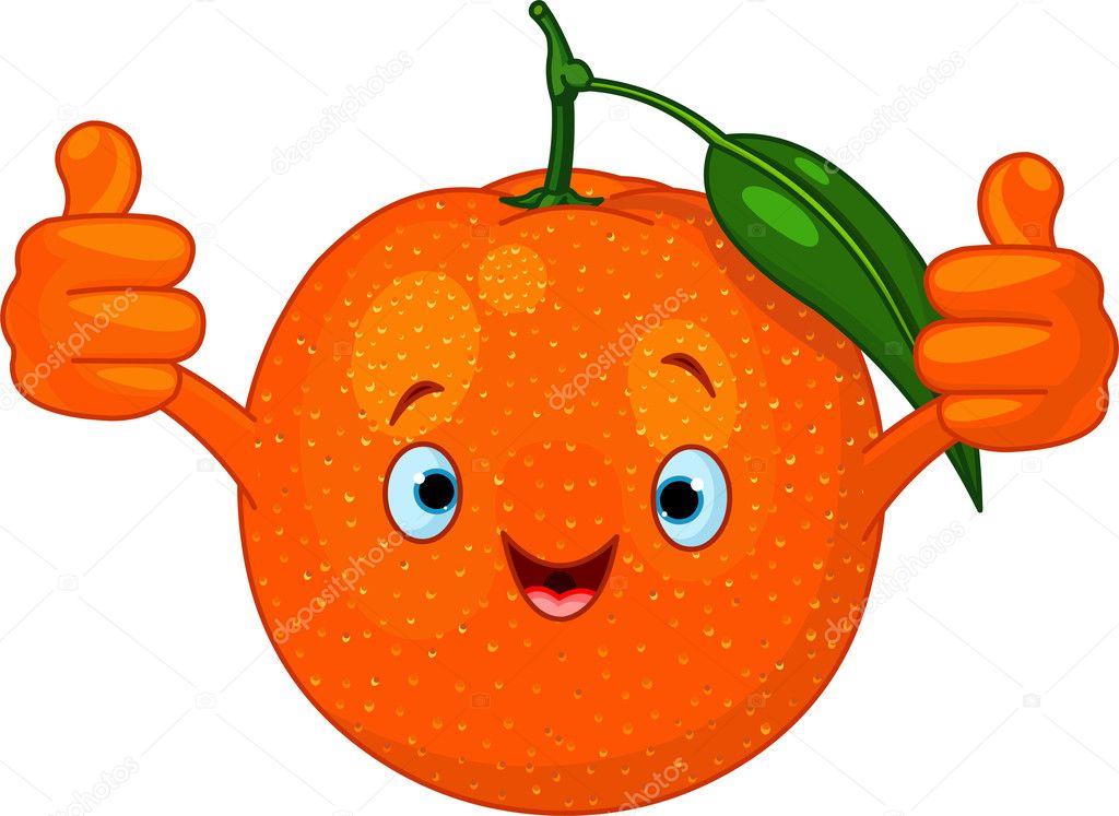 Cheerful Cartoon Orange character