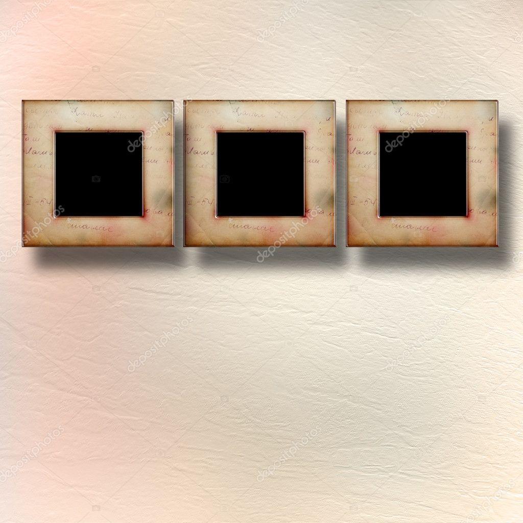 alten viktorianischen Frames im viktorianischen Stil an der Wand im ...