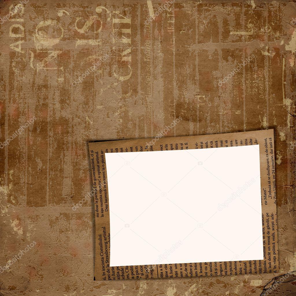 grunge cover album oder portfolio auf den hintergrund, zeitung ...