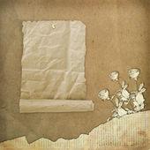 disegno di carta grunge in stile scrapbooking sullastratto backgr
