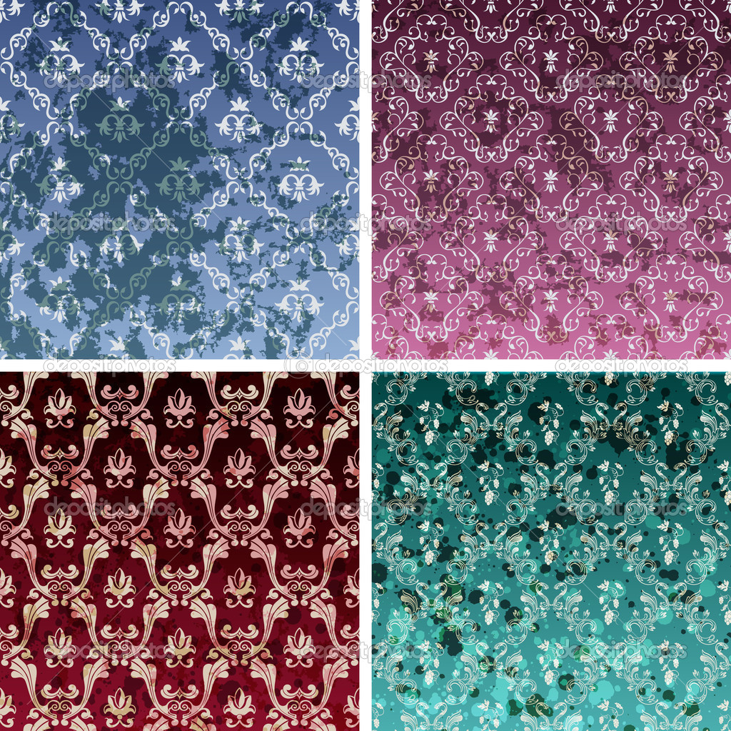Seamless Paisley Vector Wallpaper Stock Photo Image
