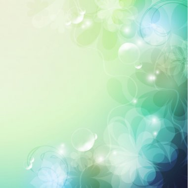 Elegantly floral background