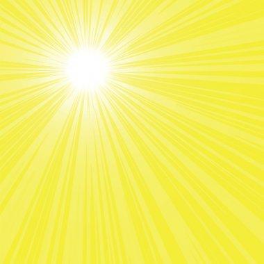 Bright sun rays