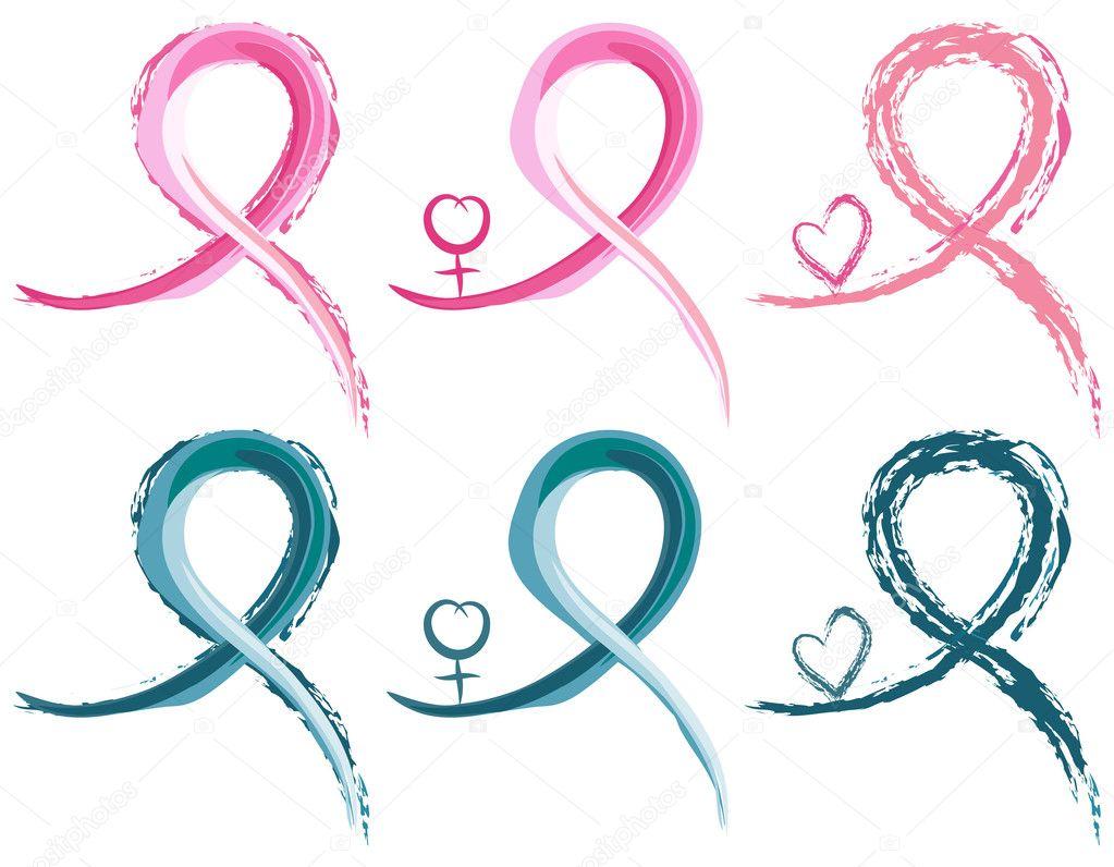 el cáncer de mama y cáncer de ovario cintas — Vector de stock ...