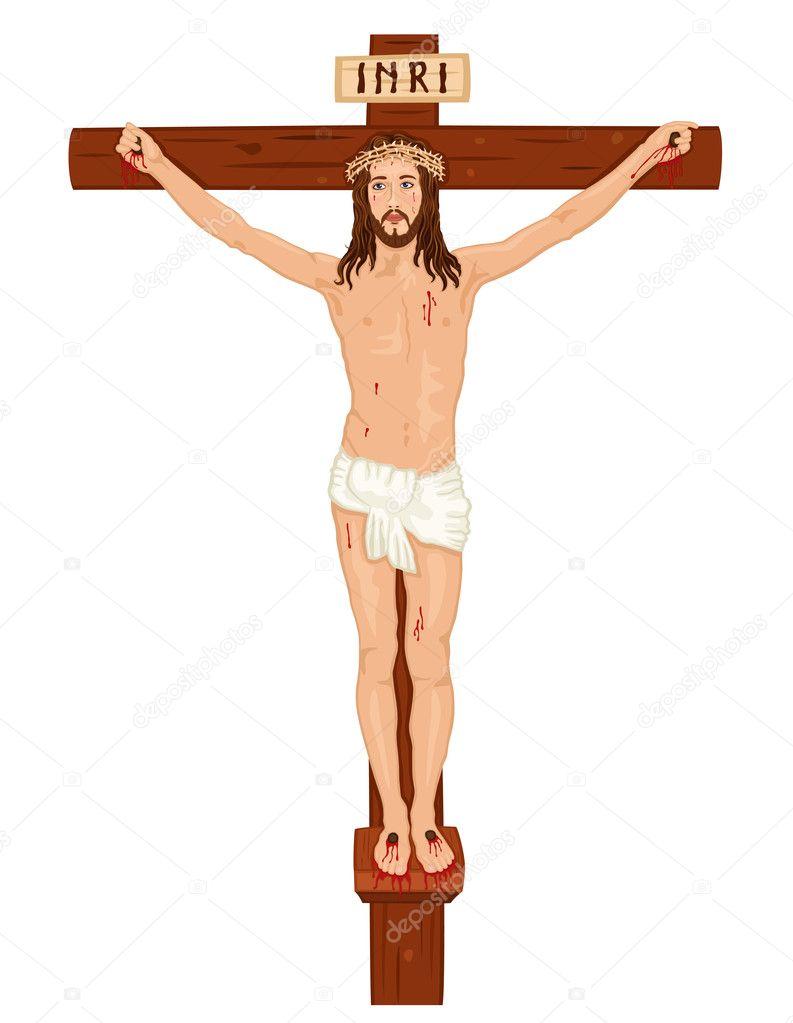 Crucifixon Jesús Cristo En La Cruz Archivo Imágenes Vectoriales