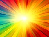 Multicolored Sun Rays Background