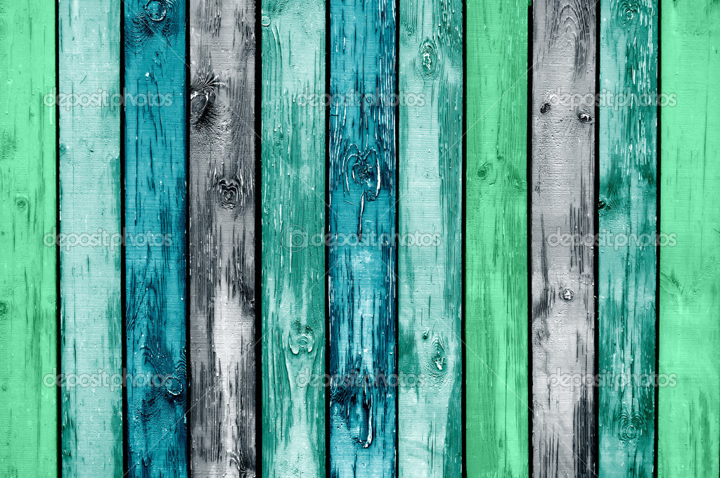 Painted Wooden Planks as Background