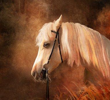 "Картина, постер, плакат, фотообои ""портрет лошади"", артикул 9984670"