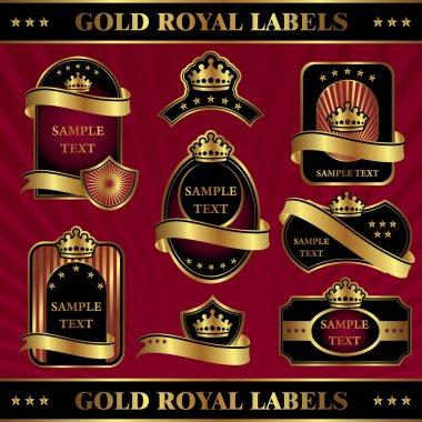 Gold royal labels