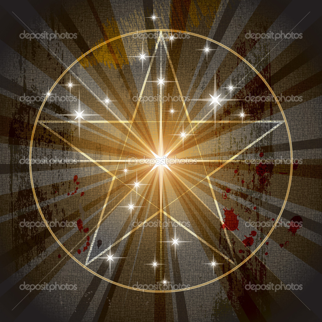 alte mystische Pentagramm — Stockvektor © Photon #9494994