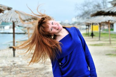 Redheaded happy girl